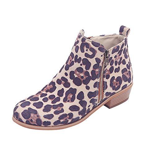 Yvelands Damen Ankle Short Booties Ritter Damen Wilder Stiefel Schuhe Reißverschluss Boot Stiefeletten Mode Plateau Stiefel Kurz Warm Stiefel Schuhe High Heel