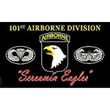 US Army 101st Airborne Division Screaming Eagles Super Poly Full Sized Flag by EE