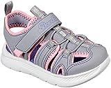 Skechers C-Flex Sandal 2.0, Sandalias de Gladiador para Niñas, Gris (Gray PU/Hot Pink Trim Gypk), 26 EU