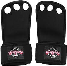 Abaodam 1 paar lederen gymnastiek grips 3 gat handgrepen met polsondersteuning Palm bescherming voor pullups Training Gewi...