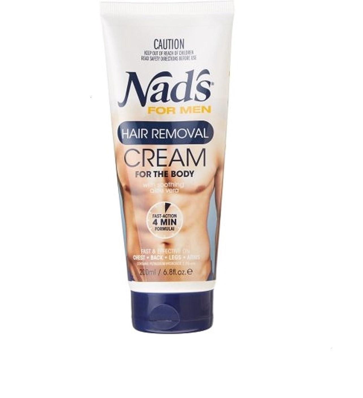 まろやかな国仮装Nad's【ナッズ / メンズ用 ボディ脱毛クリーム / チューブタイプ / 200ml】【並行輸入品】