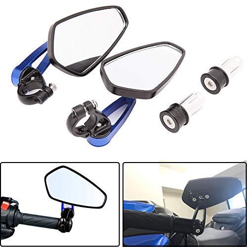 Manubrio Universal per motocicletta Specchietti retrovisori laterali blu per scooter Cruiser Sport Bike Chopper