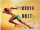 VGSD® Usain Bolt Poster Läuft Schnell Blitzschnell