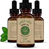 Wonder Earth Pure Organic Hemp Oil Extract 5000 mg - Stress Relief, Anxiety, Pain, Mood Support, Healthy Sleep, Skin Care, Vegan Friendly - 1oz