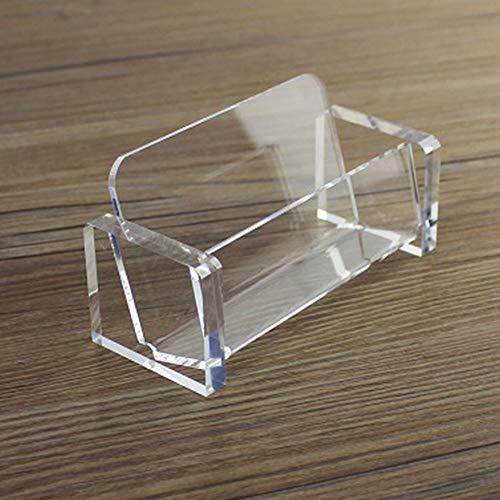 Soporte de tarjeta de visita transparente para tarjetas de visita de plástico acrílico organizador de tarjetas para la colección de escritorio de oficina - transparente