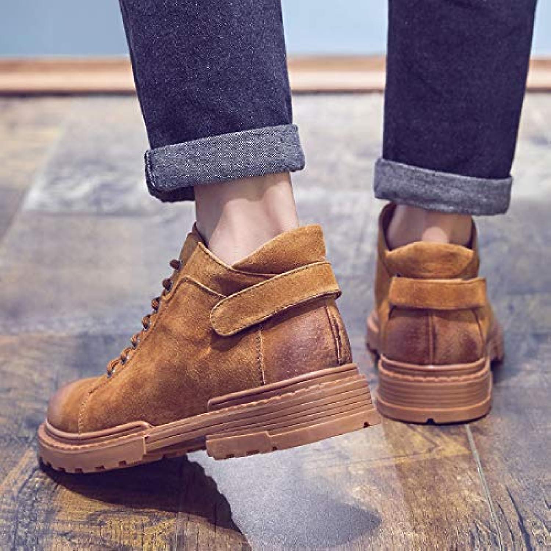 LOVDRAM Boots Men's Autumn Martin Boots Men'S Tooling Boots Wild High-Top shoes Desert Boots Short Boots