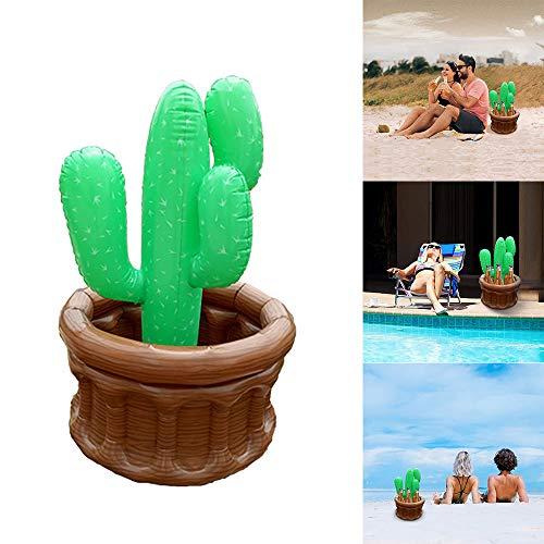 Donpow Enfriadores de bebidas inflables, Enfriadores inflables en forma de cactus, Cubo de hielo para decoraciones de fiestas en la playa, Verano, Piscina
