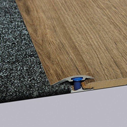 Laminat-Ausgleichsschiene Eiche Bernstein 900 mm, für 4-14 mm Höhenunterschied