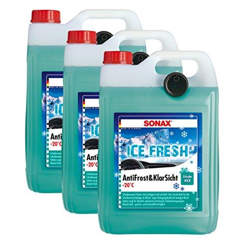 SONAX 3X 01335410 Antifrost&KlarSicht bis -20°C IceFresh ScheibenReiniger 5L
