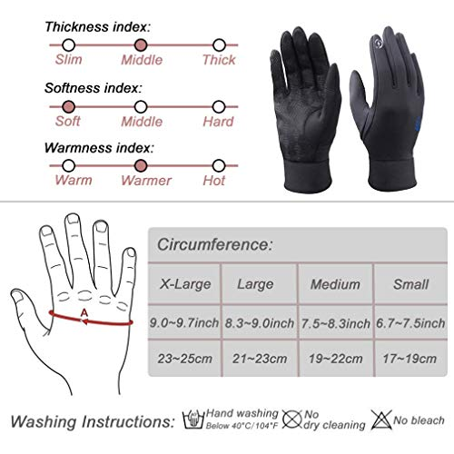 dooolo Screen Touch Gloves,Touch Gloves for Women and Men,Winter Gloves Riding Gloves Running Gloves Skiing Gloves Climbing Gloves Driving Gloves for Women and Men (S Size)