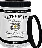 Retique It Chalk Furniture Paint by Renaissance DIY, 32 Fl Oz (Pack of 1), 01 Snow