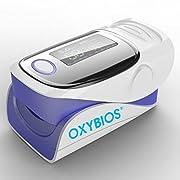 Sonde à oxygène O² et Moniteur de Fréquence Cardiaque Cardio-Fréquencemètre en un seul appareil. Pour afficher la saturation en oxygène du patient (%spO2) et son rythme cardiaque (PR) Oxymètre de pouls professionnel précis, compact et portable, petit...
