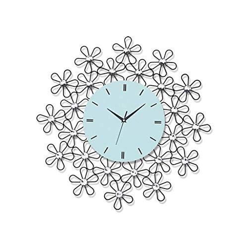 Wall Clock, Silent Non Ticking Wall Clock, Decoratieve wandklok, metalen beugel bloemvorm Crystal inlay Creative Klok Woonkamer Slaapkamer Wanddecoratie (Size : 60 * 60CM)