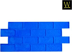 Worn Brick Running Bond Concrete Stamp Single by Walttools | Classic Masonry Paver Pattern, Sturdy Polyurethane Texturing Mat, Decorative Realistic Detail (Rigid)