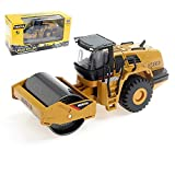 Ailejia 1/50 Scale Diecast Articulated Dump Truck Alloy Models Road Roller Construction Vehicle s Model Engineering Car Toy boy Gift (Road Roller)