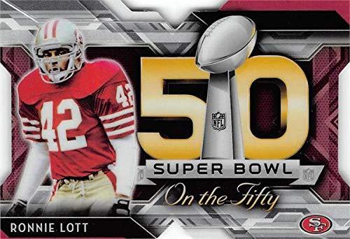 Ronnie Lott football card (San Francisco 49ers) 2015 Topps Super Bowl Die Cut Insert #SBDCRL