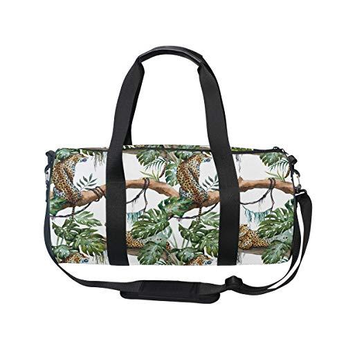 MNSRUU Reisetasche mit Leoparden-Muster, groß, Unisex, hohe Kapazität, großes Gepäck, Sporttasche