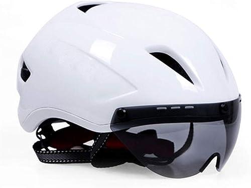 WYNZYTK Casque D'équitation à Lentille Magnétique, équipeHommest De Bicyclette Unisexe, Casque De Vélo De Montagne