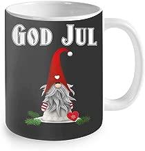 God Jul Swedish Merry Christmas Sweden Tomte Gnome Coffee Mug 11oz