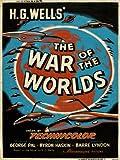 onthewall Guerra de los Mundos HG Wells Póster de película (msp34)
