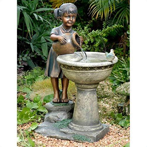 Jur_Global Versando Bird Bath Outdoor Water Fountain