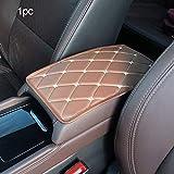 Zixin Apoyabrazos Coche Mat Auto Caja de Almacenamiento Brazo Resto del cojín del cojín del Amortiguador, Ajuste for Honda Everus Claridad Cívico Acuerdo Urbano FCX Brio 3R-C (Color : Brown)
