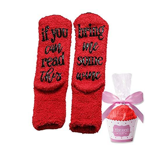Wein-Socken mit lustigen Worten,If You Can Read This-Funny Zubehör für sie, Geschenk für Frau,Geschenke für Frauen (3)