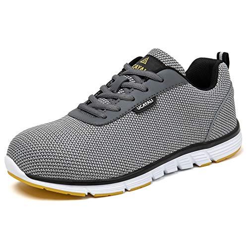 UCAYALI Zapatos Seguridad Hombre Calzado de Trabajo Antideslizantes Gris Talla Gris 43