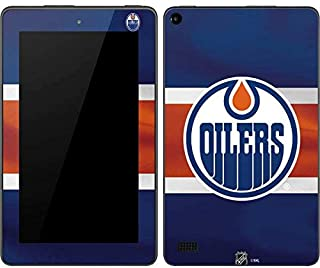 Skinit Edmonton Oilers Jersey Kindle Fire (7in, 2015) Skin - Officially Licensed NHL Tablet Decal - Ultra Thin, Lightweight Vinyl Decal Protection