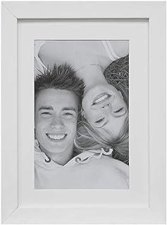 Porta-retratos Insta O Para Fotos 13x18cm Com Pp 15x21cm Ext.18x24cm Kapos Branco