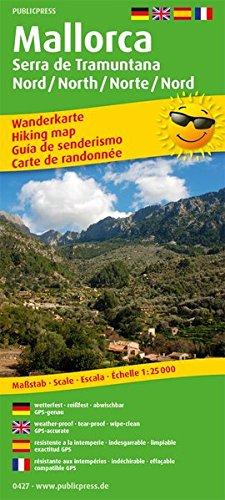 Mallorca - Serra de Tramuntana Norte/Nord /North/Nord: Wanderkarte /Hiking Map mit Mountainbike-Touren, wetterfest, reissfest, abwischbar, GPS-genau. 1:25000 (Wanderkarte: WK)