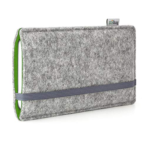 stilbag Funda de Fieltro 'Finn' para Sony Xperia Z5 Premium - Color: Gris/Verde