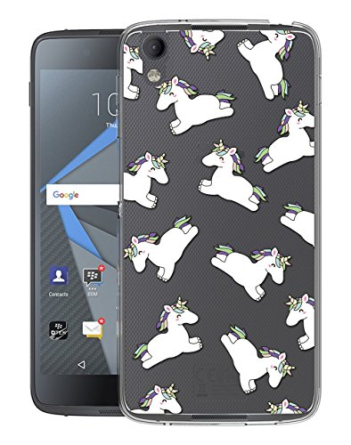 Sunrive Für BlackBerry DTEK50 Hülle Silikon, Transparent Handyhülle Schutzhülle Etui Hülle Backcover für BlackBerry DTEK50(TPU Einhorn 2)+Gratis Universal Eingabestift
