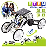 LESES Stem Toys DIY Solar Power 4WD Climbing Vehicle Motor Car Kits for 8-10 Year Old Boys,...
