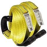 Premium 2 Pcs Crane Towing Strap 20feet x 2inch Durable 3400Dtex - Heavy Duty Web Sling - Corrosion Resistance Polyester Industrial Flat Eye-Eye Ropes