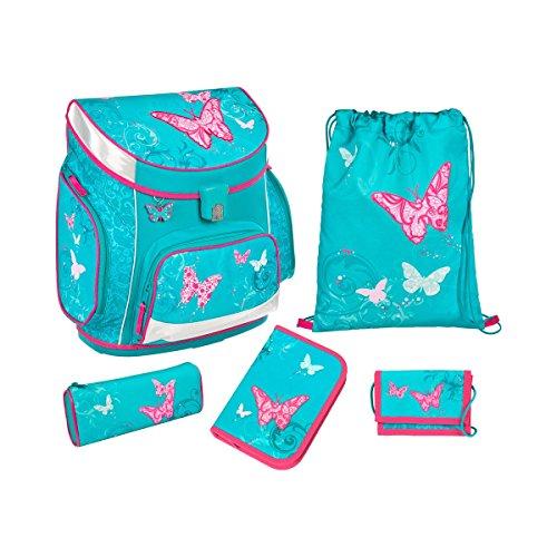 Scooli Campus UP Schulranzen-Set 5-tlg Butterfly BUKR butterfly