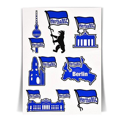 Aufkleberkarte Sehenswürdigkeiten HERTHA BSC BERLIN