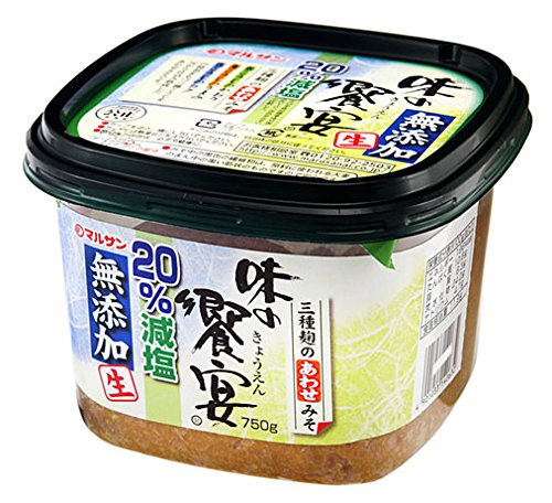 マルサン 味の饗宴 無添加生 減塩 750g×6個