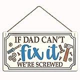 MAIYUAN Funny Dad's Workshop Schild Türdekoration