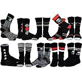 TeeHee Men's Cotton Crew Fashion Socks - 10 Pairs (S/51055+51056)10-13 Men's (US shoe sizes 8-13