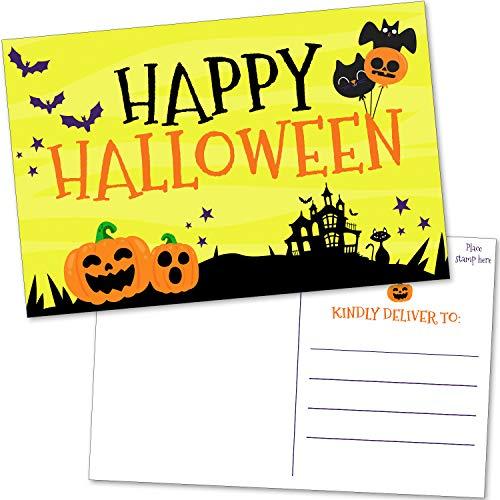 50 Bulk Happy Halloween Postcards -…