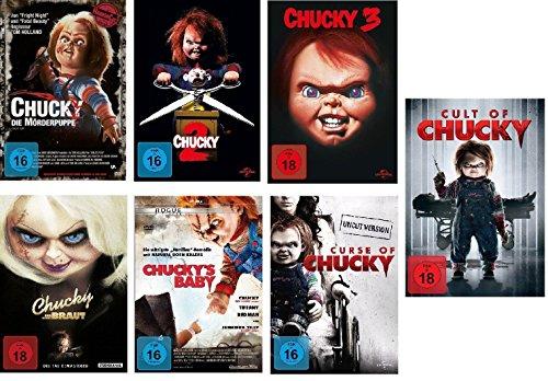 Chucky 1-7 DVD Set, deutsch, uncut, 1,2,3,4,5,6,7 Curse of, Cult of, und seine Braut, Chuckys Baby I-VII, 7 dvds