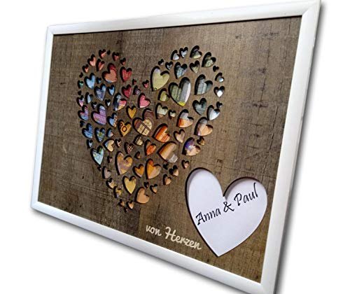 Herzmotiv im Bilderrahmen