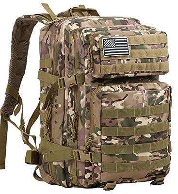 Luckin Packin Tactical Backpack,Military Backpack,Molle Bag Rucksack Pack,45 Liter Large Green