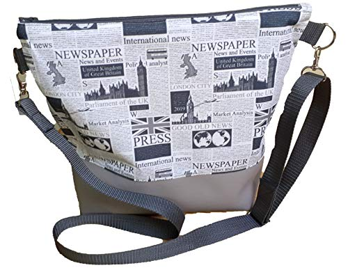 Handtasche, Schultertasche Handarbeit Milow, Umhängetasche, Zeitung