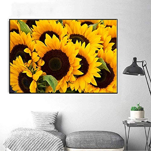 Sunflower canvas painting country kitchen wall decoration painting living room kitchen landscape decoration poster print-40X60cm_unframed