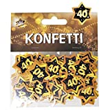 Udo Schmidt GmbH & Co Zahlen Konfetti 40' Schwarz Gold Geburtstag Dekoration Party Tischdeko