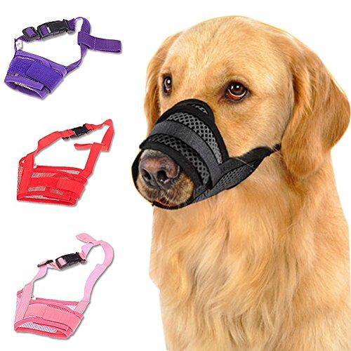 UxradG Pet Hund Mund, Hund, bissfest, Bellen, Nylon Mesh Verstellbar Mund Cover Schnauzen Mundschutz Atmungsaktiv Maske - 8