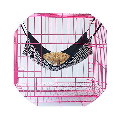 ZZmeet Cat Bed huisdier hangmat voor huisdier kat rust & huis zacht huisdier comfortabel warm klein hond bed huisdier rust & goedkoop kat huis, streep, L 53 X 38 cm, Size, een_kleur