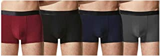 Macondoo Men Slim Fit Underwear Cotton Breathable Pack of 4 Boxer Briefs